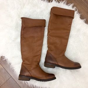 Vera Gomma Italian riding leather brown tall boots
